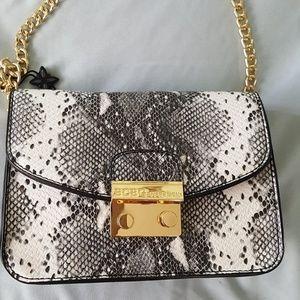 BCBG faux snakeskin crossbody chain strap bag